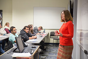 Professor Sue Bosco teaching class.