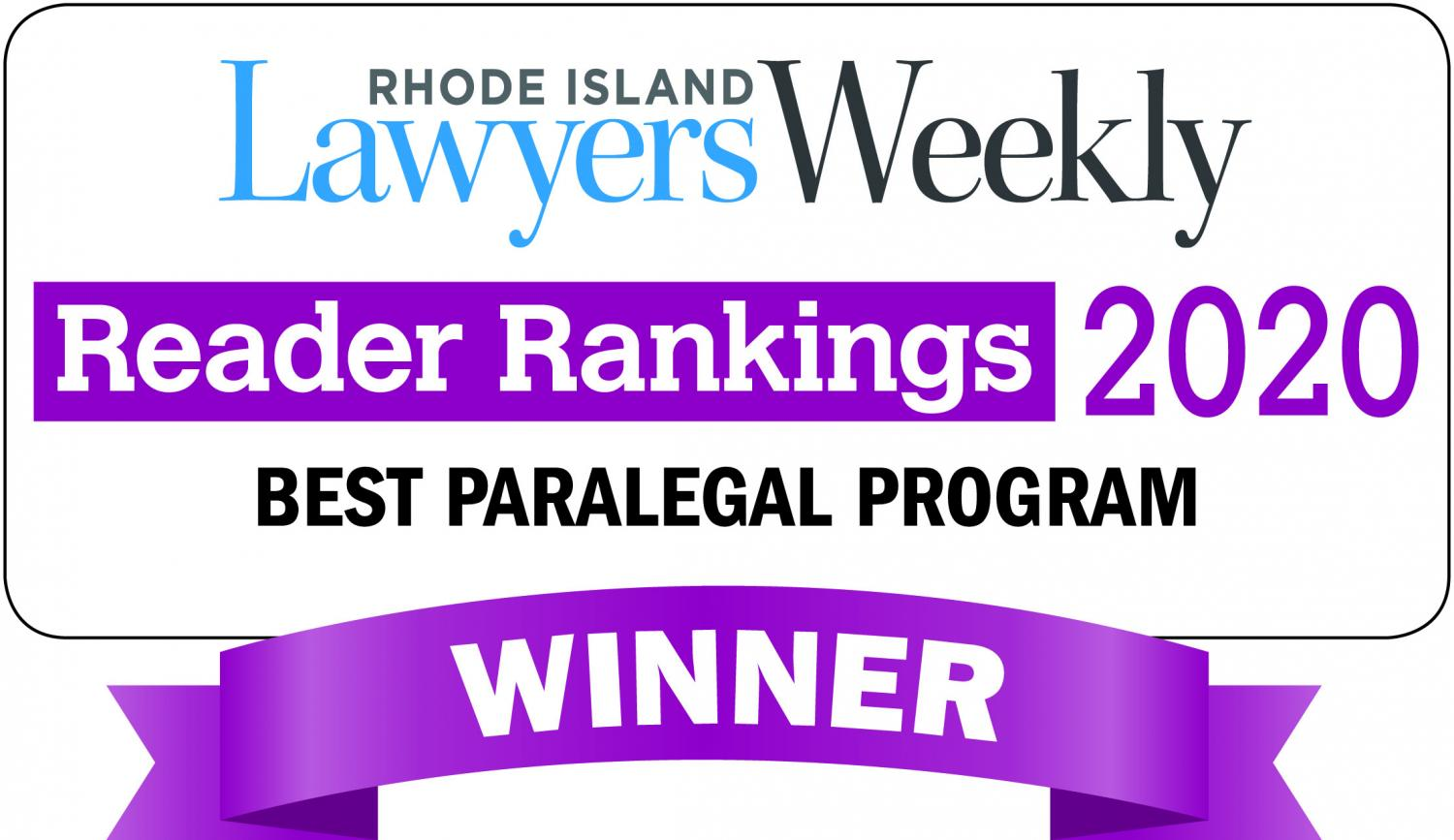 Voted Best Paralegal Program by Lawyer's Weekly