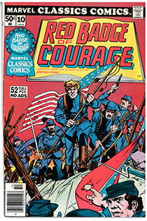 Marvel comic cover of The Red Badge of Courage
