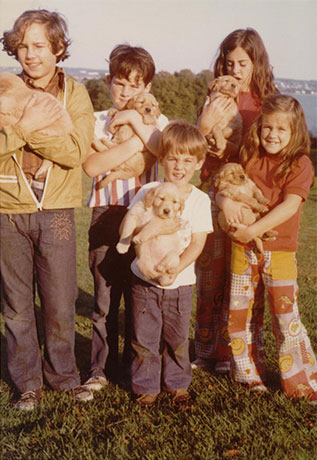 Ramsay siblings in 1972.