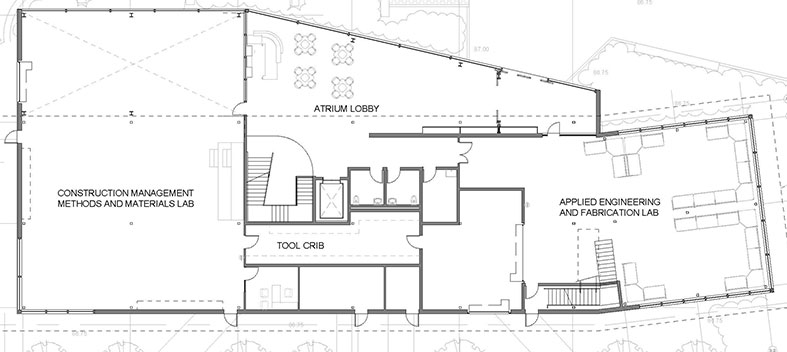 SECCM Labs First Floor Plan