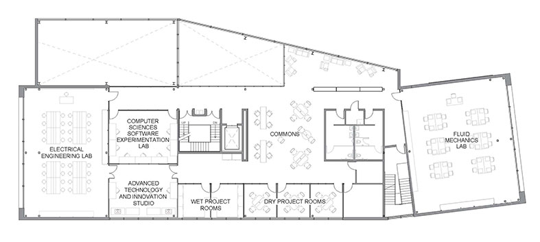 SECCM Labs Second Floor Plan