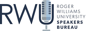 logo for Roger Williams University Speakers Bureau