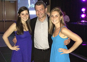 photo of RWU President-Designate Miaoulis with his daughters