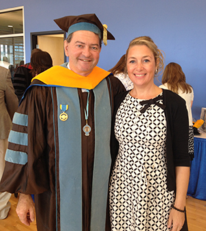 photo of Dr. Miaoulis with his partner, Heidi Maes, a native of Belgium.