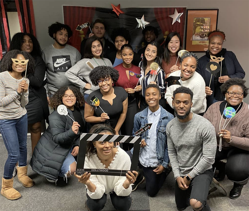 image of students at Black Law Students Association event