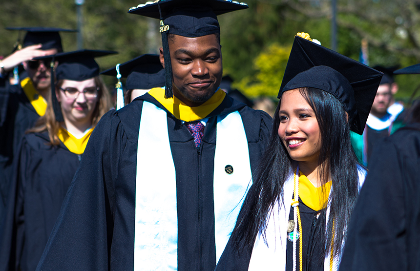 image of graduating students at RWU Commencement 2019
