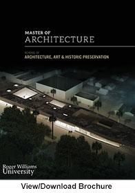 Master Of Architecture Program. Architecture Grad Brochure