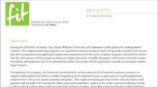 What is FIT - Department/Employer