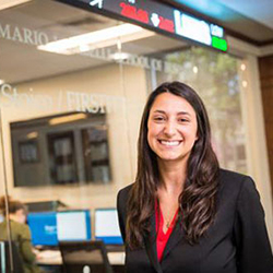 image of RWU alum Carla Puchini, financial analyst at Morgan Stanley