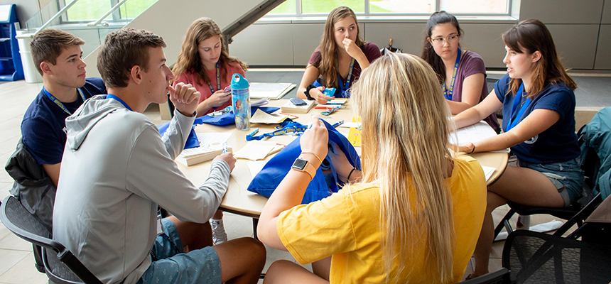 image of RWU Honors Program students studying together