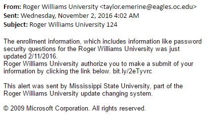 Information Security Hub | Roger Williams University