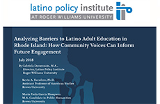 Analyzing Barriers to Latino Adult Education in Rhode Island July 2018