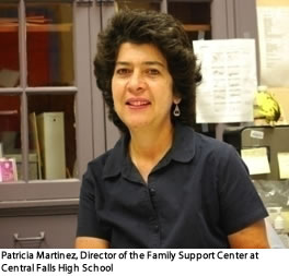 Patricia Martinez, Director of the Family Support Center at Central Falls High School