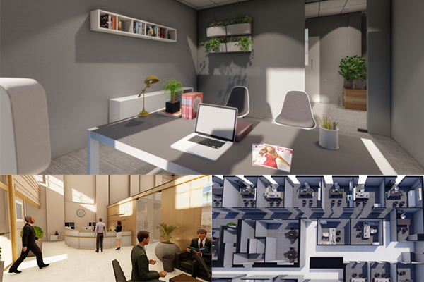 3D rendering of office space
