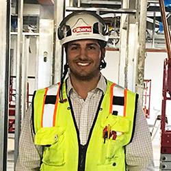image of RWU alum Jared Ramos, project engineer at Gilbane Building Co.