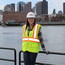 image of RWU alum Madison Newton, project engineer at Gilbane Building Co.