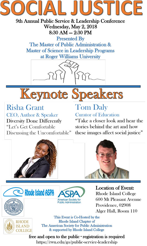 0d806787 9th Annual Public Service and Leadership Conference | Roger Williams ...