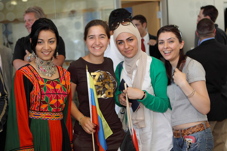 Students in GHH with global outfits
