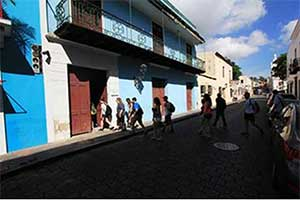 A picture of a Santo Domingo Street