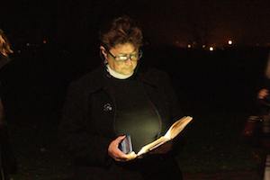 Chaplain giving night vigil