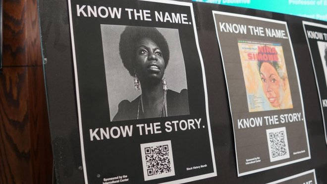Posters of prominent African American people and events throughout history