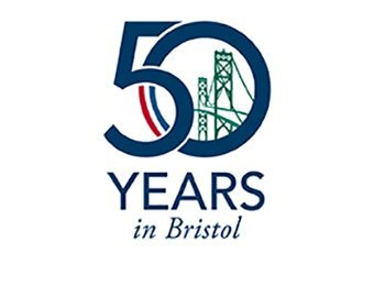 50 years in Bristol Logo