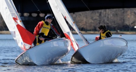Sailors race head-to-head