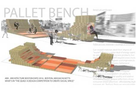 "WHAT'S IN ""The Quad: A Design Competition to Create Social Space completion as part of the ABX (Architecture Boston Expo)"