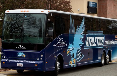 Hawk's Athletics bus.