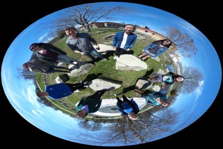 Students take complex math functions and map them using 360-degree photos
