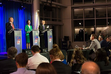 Candidates for governor debate at RWU