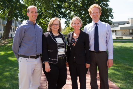 From left to right: Professor of Biology Brian Wysor, Center for Student Academic Success Associate Director Karen Bilotti, Science Center Coordinator Tracey McDonnell Wysor, and Associate Professor of Engineering William J. Palm.