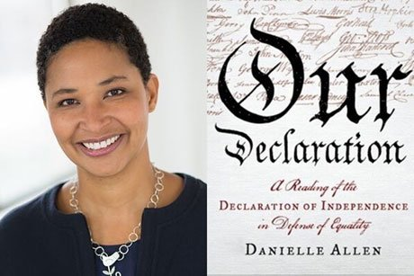 "Danielle Allen and cover of ""Our Declaration"""