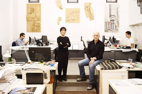 Tod Williams and Billie Tsien in their studio