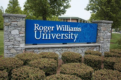 Roger Williams University main entrance.