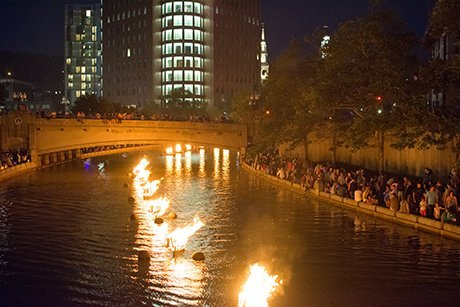 Providence during WaterFire
