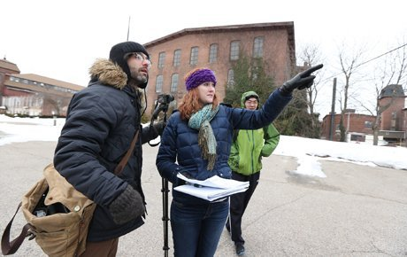 Students Explore Historic Mill Site