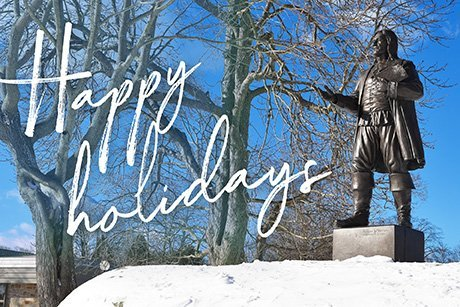 Video and image: President Miaoulis Wishes RWU Community Happy Holidays