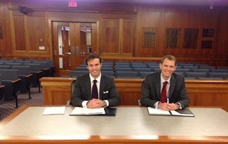 Students prepare to make their case in court competition