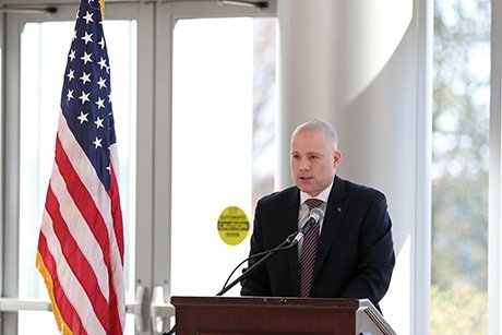 David Coombs delivers Veterans Day address
