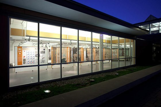 SAAHP gallery at night.