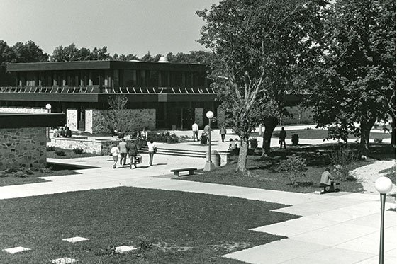 Historic image of Roger Williams campus.