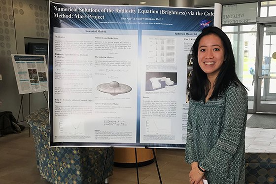 Student presents project at 2018 Student Academic Showcase and Honors event