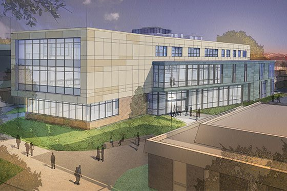 Rendering of SECCM Labs exterior.