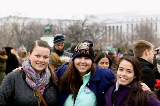 College Democrats at the 2013 Presidential Inauguration
