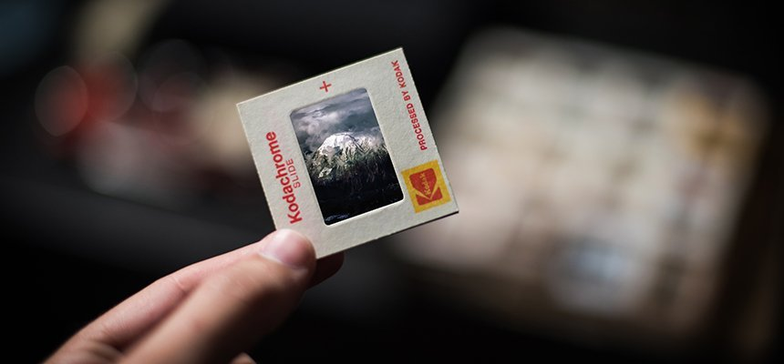 35mm Slide of Mountains