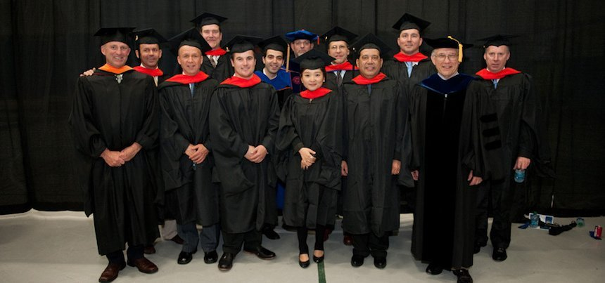 group of graduate students