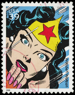 Wonder woman stamp.